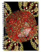 Stained Glass Kaleidoscope Under Glass Spiral Notebook
