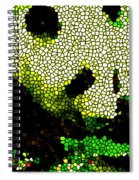 Stained Glass Panda 2 Spiral Notebook