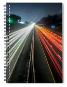 Standing In Car On Side Of The Road At Night In The City Spiral Notebook