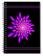 Starburst-32 Framed Black And Pink Spiral Notebook
