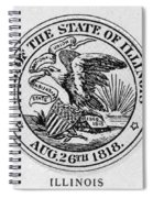 State Seal Illinois Spiral Notebook