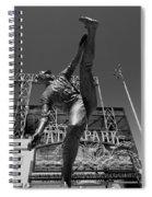 Statue Of Juan Marichal Outside Atandt Park San Francisco Spiral Notebook