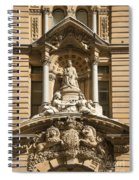 Statue Of Queen Victoria At Town Hall Of Sydney Australia Spiral Notebook
