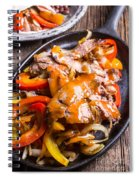 Steak Fajitas Spiral Notebook