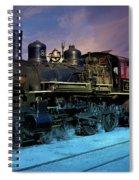 Steam Engine Nevada Northern Spiral Notebook