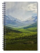 Storm Clouds Over The Klondike Valley Spiral Notebook