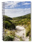 Strahan Coast Landscape Winding To The Ocean Spiral Notebook