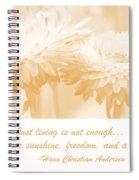 Strawflowers Spiral Notebook