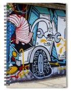 Street Art Valparaiso Chile 15 Spiral Notebook