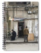 Street Food Stall In Shanghai China Spiral Notebook