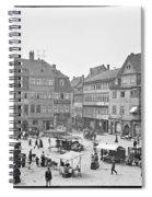 Street Market Coburg Germany 1903 Vintage Photograph Spiral Notebook