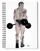 Strongest Man Tattooed Spiral Notebook