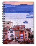 St.tropez At Sunset Spiral Notebook