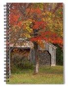 Sugarhouse In Autumn Spiral Notebook
