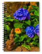 Summer Flower Garden Spiral Notebook