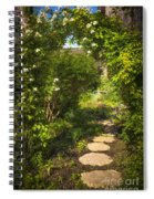 Summer Garden And Path Spiral Notebook