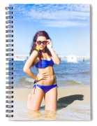 Sun Sand And Sea Leisure Spiral Notebook