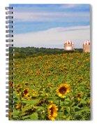 Sunflower Field New Jersey Spiral Notebook