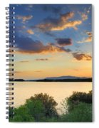Sunrays At The Lake Spiral Notebook