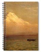 Sunrise On Mount Tacoma Spiral Notebook