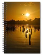 Sunrise On The Bon Secour River Spiral Notebook