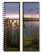 Sunset At Fort Smallwood Spiral Notebook