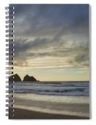 Sunset At Holywell Bay Spiral Notebook