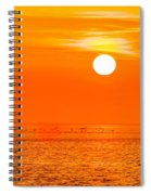 Sunset At Sea With Multiple Color Prizm Spiral Notebook