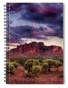 Sunset At The Superstitions  Spiral Notebook