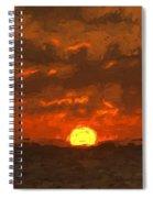 Sunset Spiral Notebook