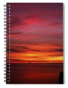 Sunset By The Sea Spiral Notebook