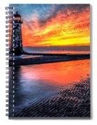 Sunset Lighthouse Spiral Notebook