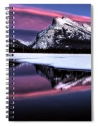Sunset Mount Rundle Spiral Notebook