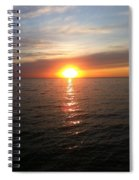 Sunset On The Bay Spiral Notebook