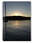 Sunset On The Pier Spiral Notebook
