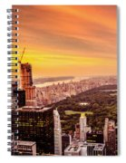 Sunset Over Central Park And The New York City Skyline Spiral Notebook
