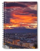 Sunset Over Florence Spiral Notebook