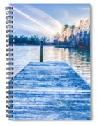 Sunset Over Lake Wylie At A Dock Spiral Notebook