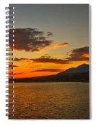 Sunset Over Mackay Reservoir Spiral Notebook