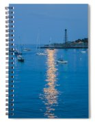 Supermoon At Marblehead Ma Spiral Notebook