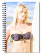 Surfing Leisure And Recreation Spiral Notebook