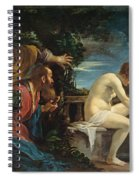 Susanna And The Elders Spiral Notebook