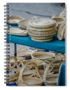 Charleston Sc Sweet Grass Basket Stand Spiral Notebook