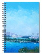 Sydney Harbour And The Opera House Cityscape View Spiral Notebook