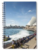Sydney Harbour In Australia By Day Spiral Notebook