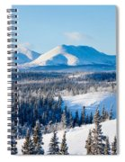 Taiga Winter Snow Landscape Yukon Territory Canada Spiral Notebook