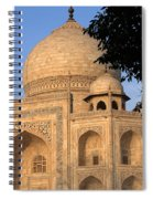 Taj Mahal In Evening Light Spiral Notebook