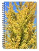 Tall Ginkgo Tree Spiral Notebook