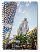 Tall Highrise Buildings In Uptown Charlotte Near Blumenthal Perf Spiral Notebook