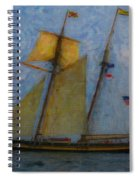 Tall Ship Sailing Spiral Notebook